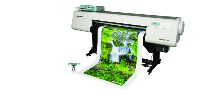 The Fujifilm Acuity 1600 LED UV 8-color Hybrid Printer.
