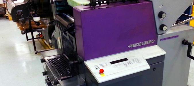 The Heidelberg Printmaster QM 46.