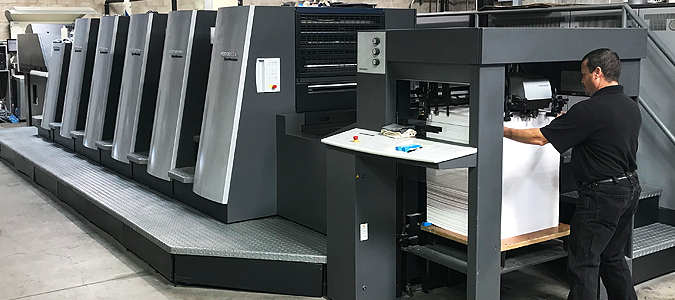 The Heidelberg Speedmaster XL 75 Offset Printer.