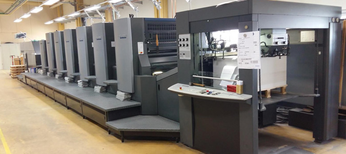 The Heidelberg Speedmaster CD 102 Offset Printer.
