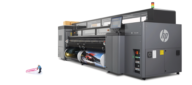 The HP Latex 3100 giant format printer.
