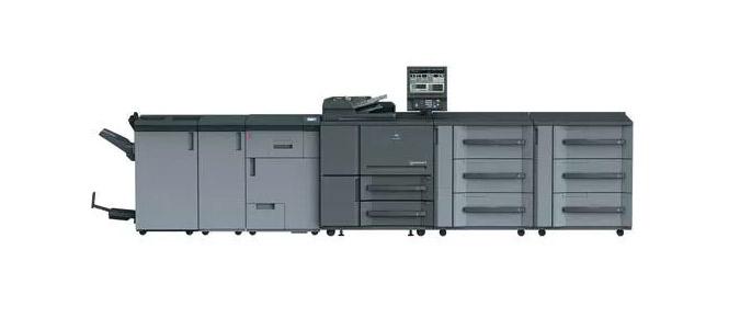 The Konica Minolta 1250 Digital Black & White Press.