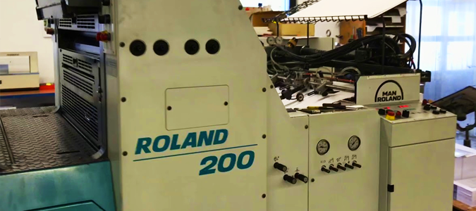 The ManRoland 200 Offset Printer.